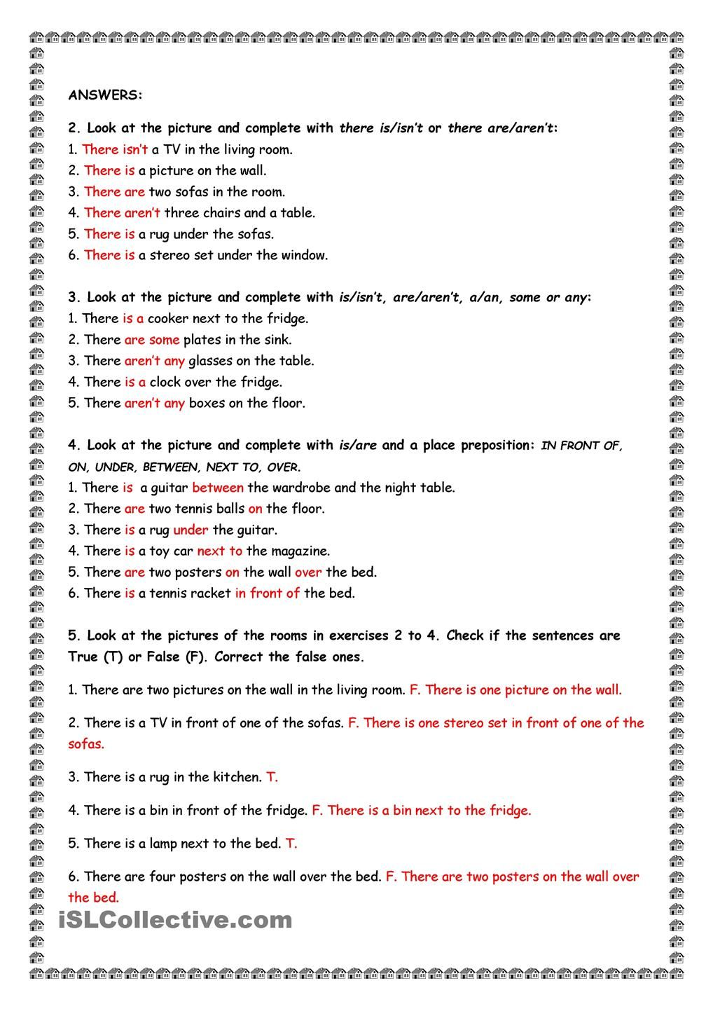 hight resolution of House and Furniture: There is/are.   English lessons for kids