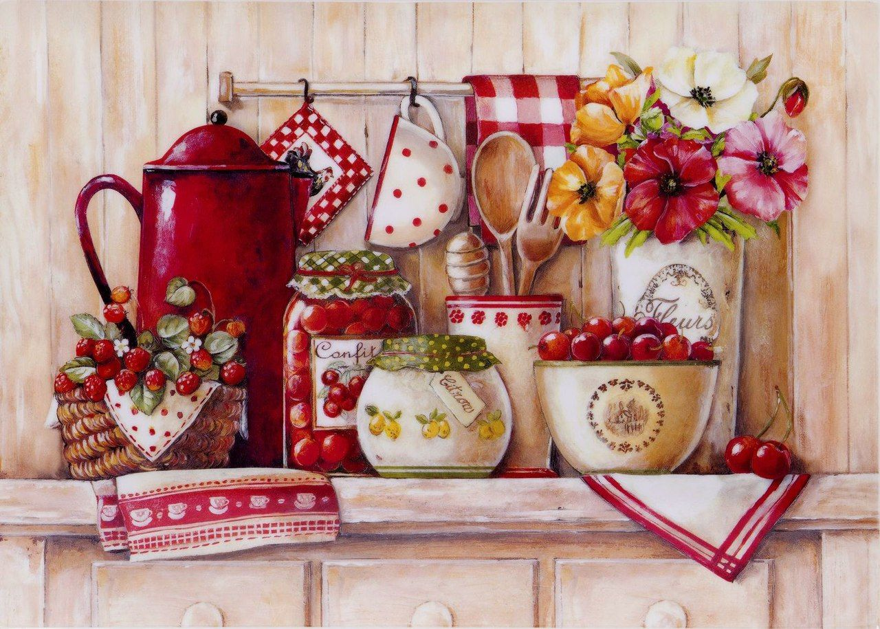 Pin de juanita vences en ceramica pinterest imagenes - Laminas vintage para cocina ...
