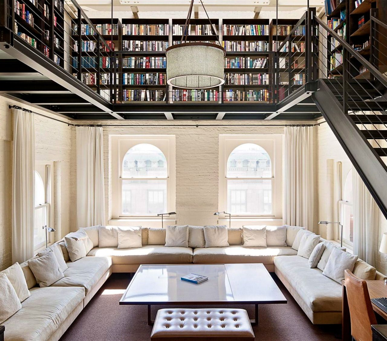 80 Peaceful Study Room Decorating Ideas: Oh Wow. Beautiful Balcony Library Over A Spacious And
