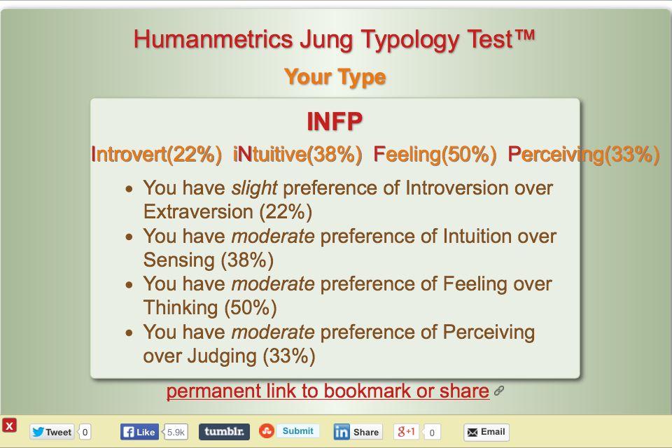 Intuitive or sensing quiz