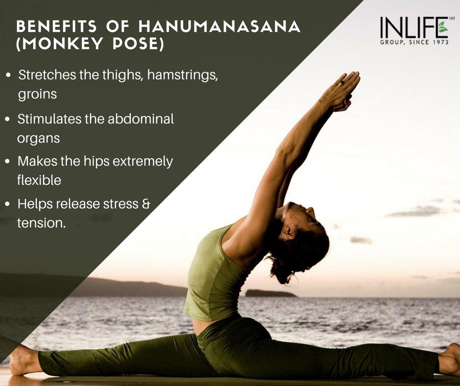 The #hanumanasana, #monkeypose or #yogasplits are a ...