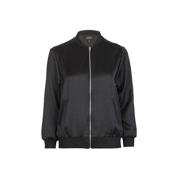 Topshop Petite Satin Bomber Jacket (€54) ❤ liked on Polyvore ...