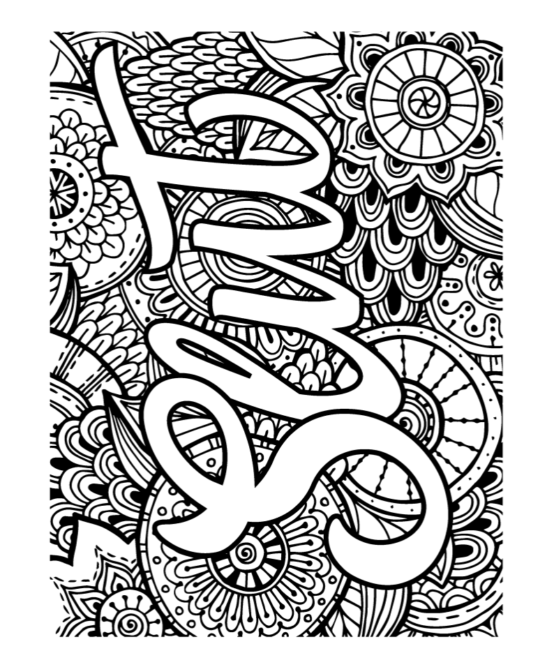 71 40 Swear Word Coloring Pages Set In Stunning Pop Art
