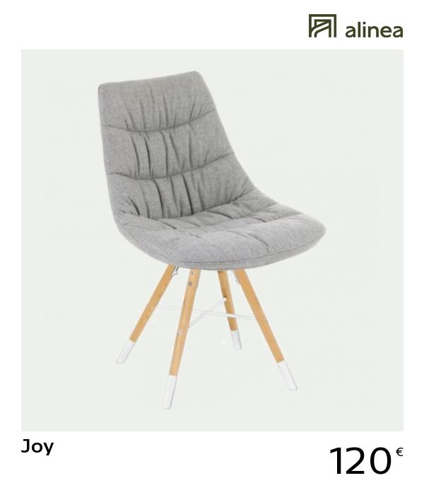 Joy Chaise Tissu Gris Avec Pietement Bois Et Blanc Pinterest