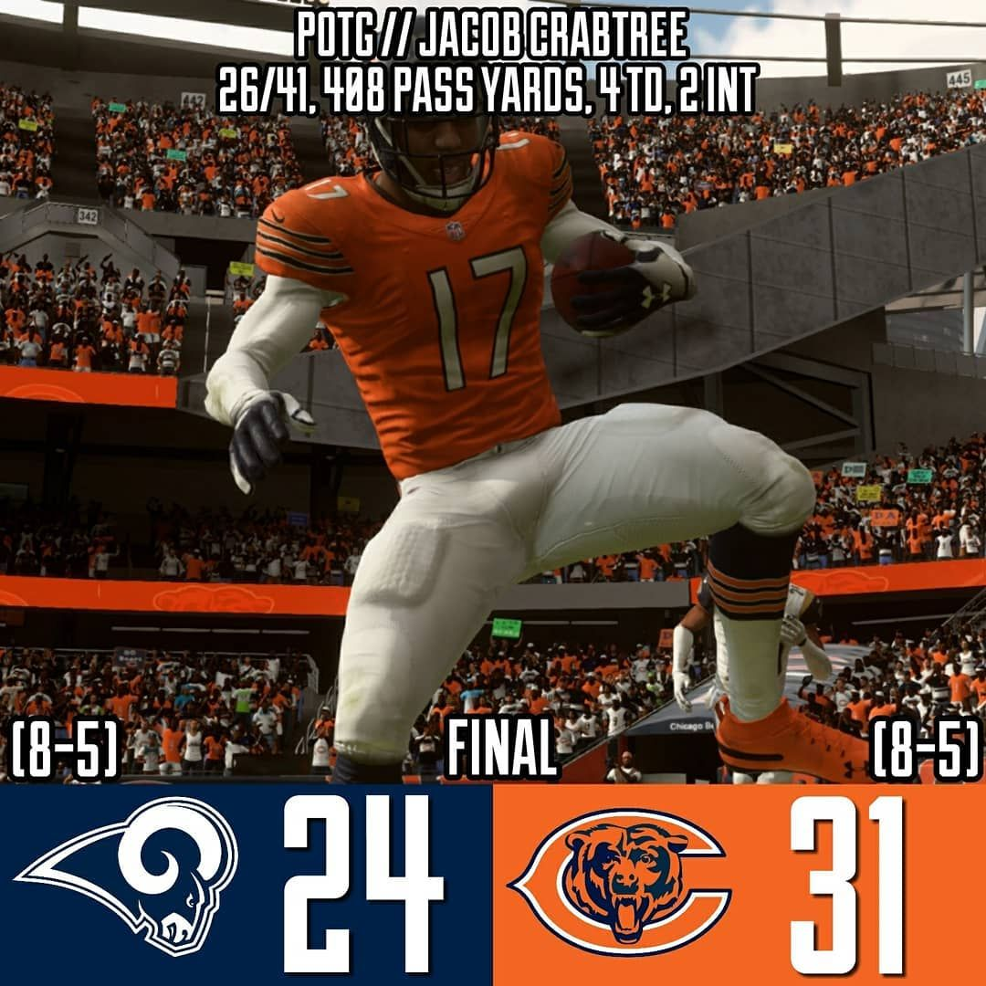 Bears Win Again Chicago Takes Down The Powerhouse Rams At Home And Continues To Have A Remarkable Turnaround Season Khalil Mack Records 3 Sacks And Has Tied T