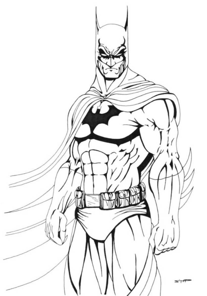 Printable coloring pages batman - Batman Download And Print Cool Batman Coloring Pages
