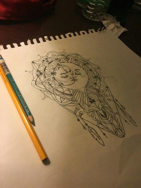 Dream Catcher In The Sun Sun and moon dream catcher My next tattoo Tattoo inspo 35