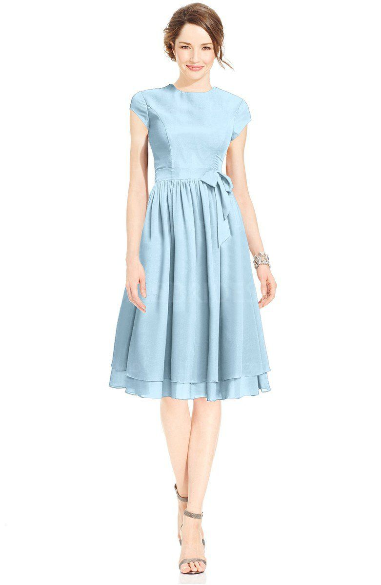 67 nautical blue mature fit n flare high neck zip up chiffon 67 nautical blue mature fit n flare high neck zip up chiffon bridesmaid dresses ombrellifo Image collections