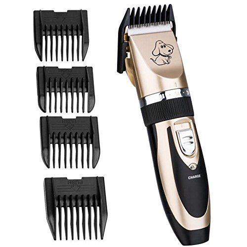 Low Noise Rechargeable Cordless Pet Dogs And Cats Electric Clippers Grooming Trimming Kit Set With Rechargeable With Images Dog Grooming Clippers Cat Grooming Dog Clippers