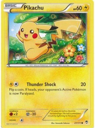 Free Pikachu 27 111 Pokemon Card Furious Fists Rare Cards