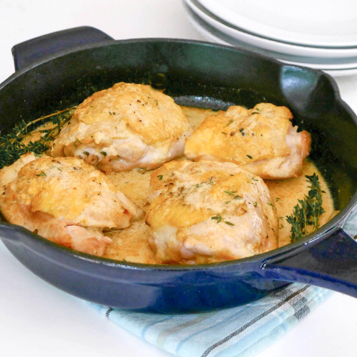 Easy Keto Dijon Chicken Thighs