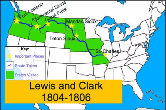 Lewis And Clark Make Your Own Map Weee Lewis Clark Lewis - Map-of-us-in-1804