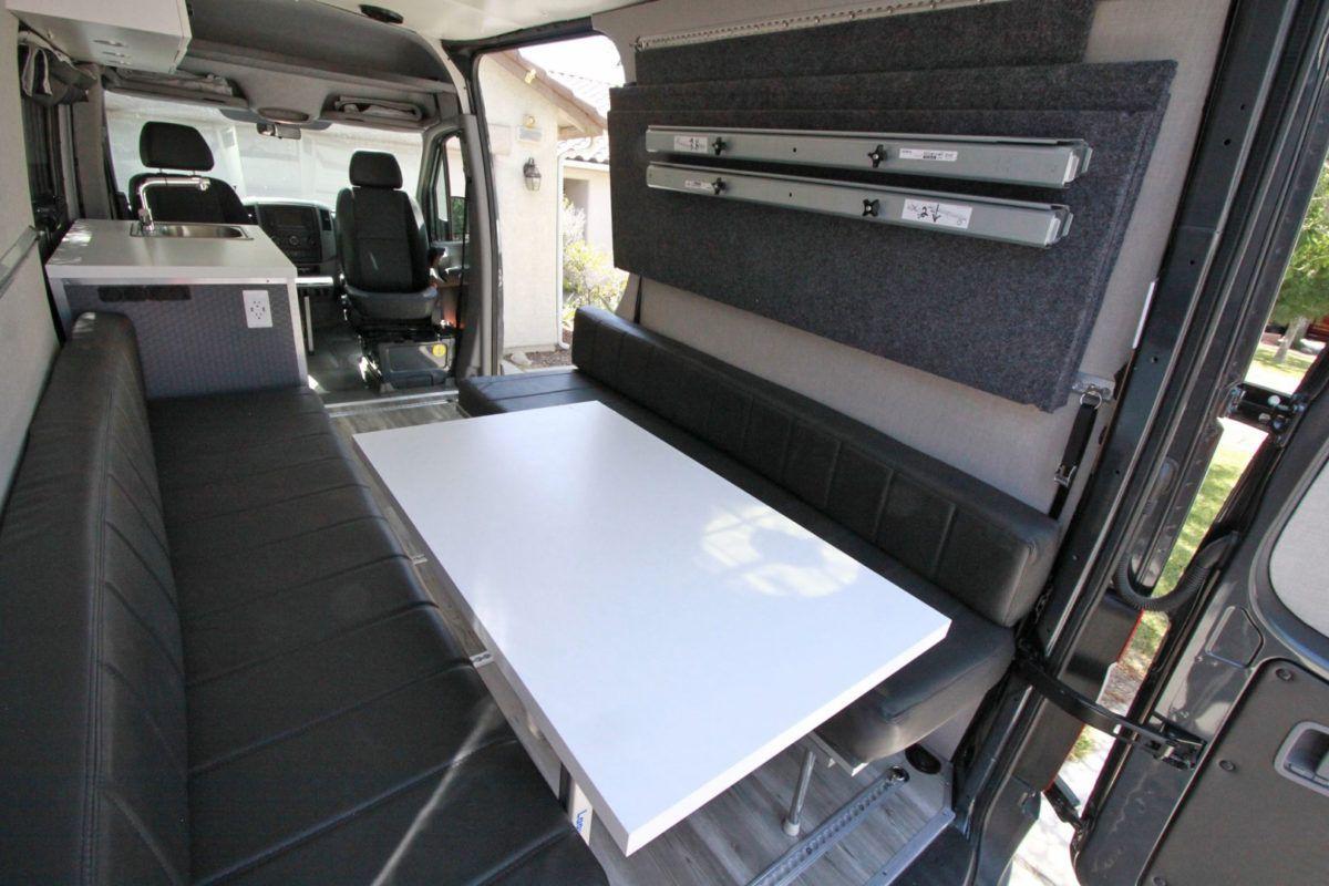 Sprinter Van Diy 3 Panel Platform Bed On L Track In 2020
