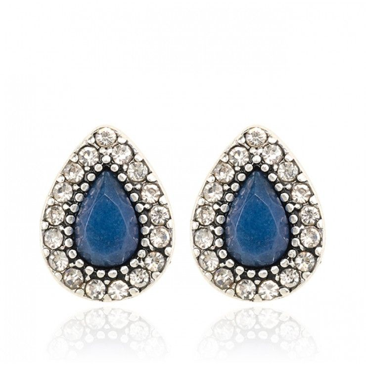 ENDLESS LOVE STUD EARRINGS - INDIGO - Shop All | SAMANTHA WILLS $75