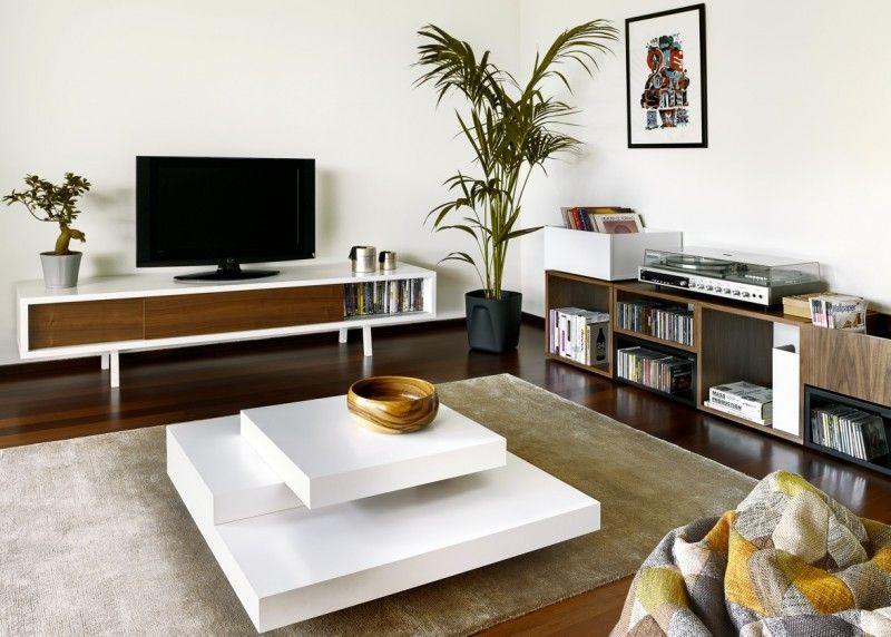 Air flexible audio hifi TV module (Module high air - walnoot - wohnzimmer retro style