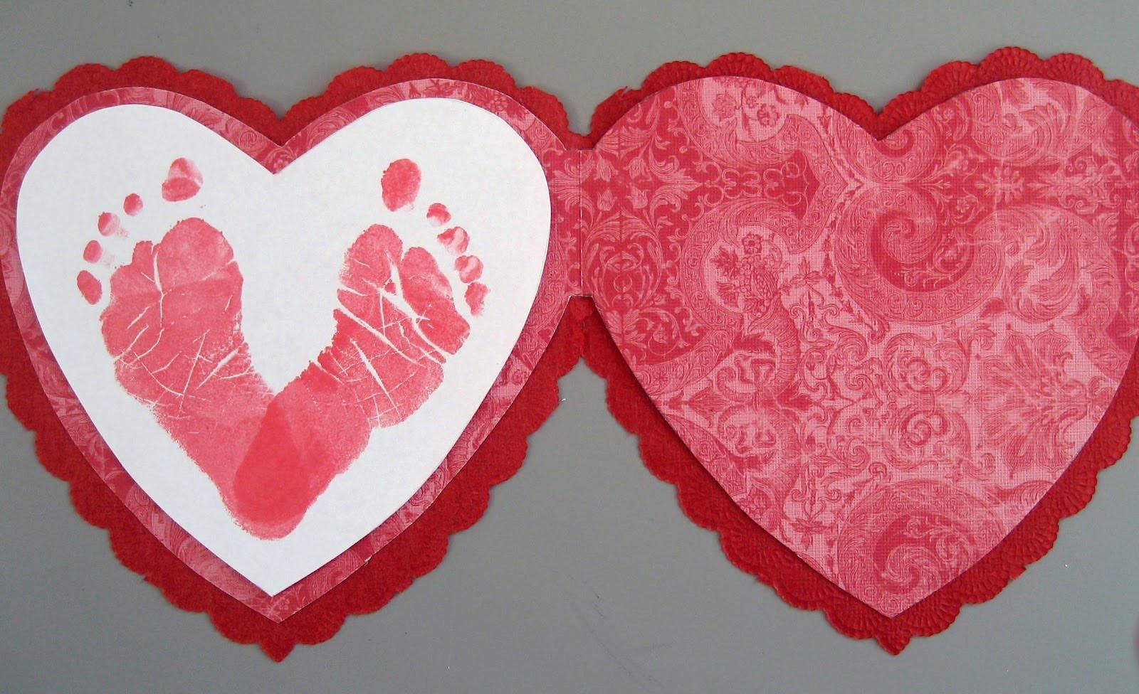 Infant Valentines Day Crafts Crafts For Children Pinterest