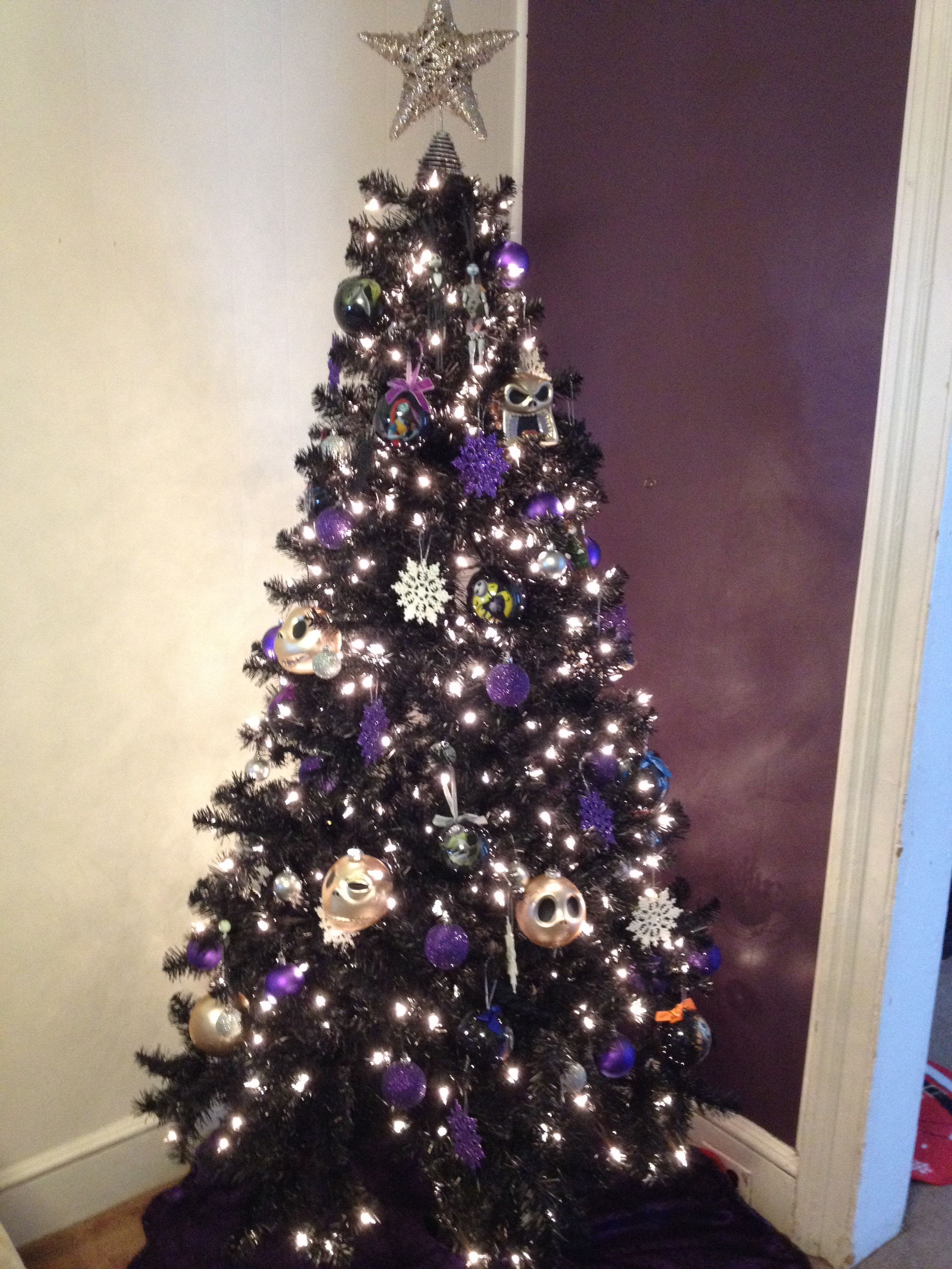 Our black nightmare before Christmas tree <3 | Christmas | Pinterest ...