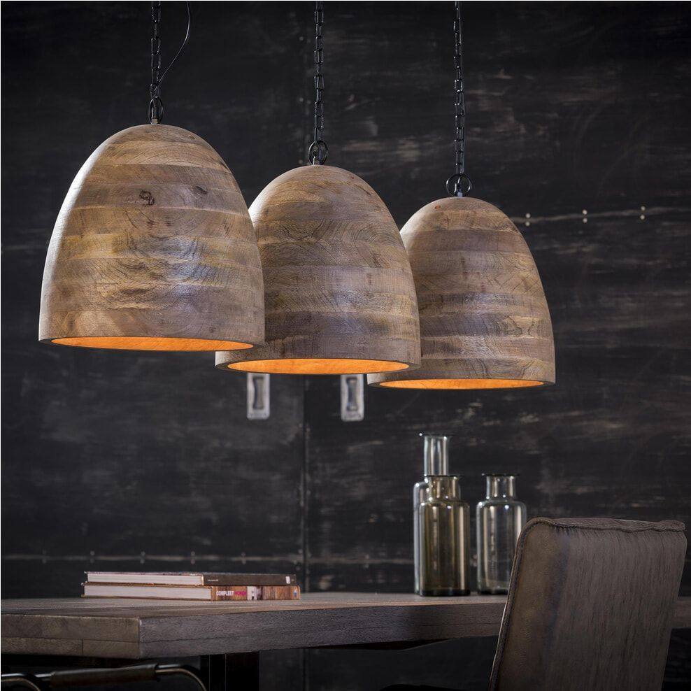 Hanglamp Jean Paul 3 Lamps Pendelleuchteesstisch Hanglamp Jean Paul 3 Lamps In 2020 Wood Pendant Light Ceiling Lights Modern Ceiling Light