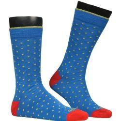 Photo of Gallo men's socks, cotton, green-blue dotted Gallo