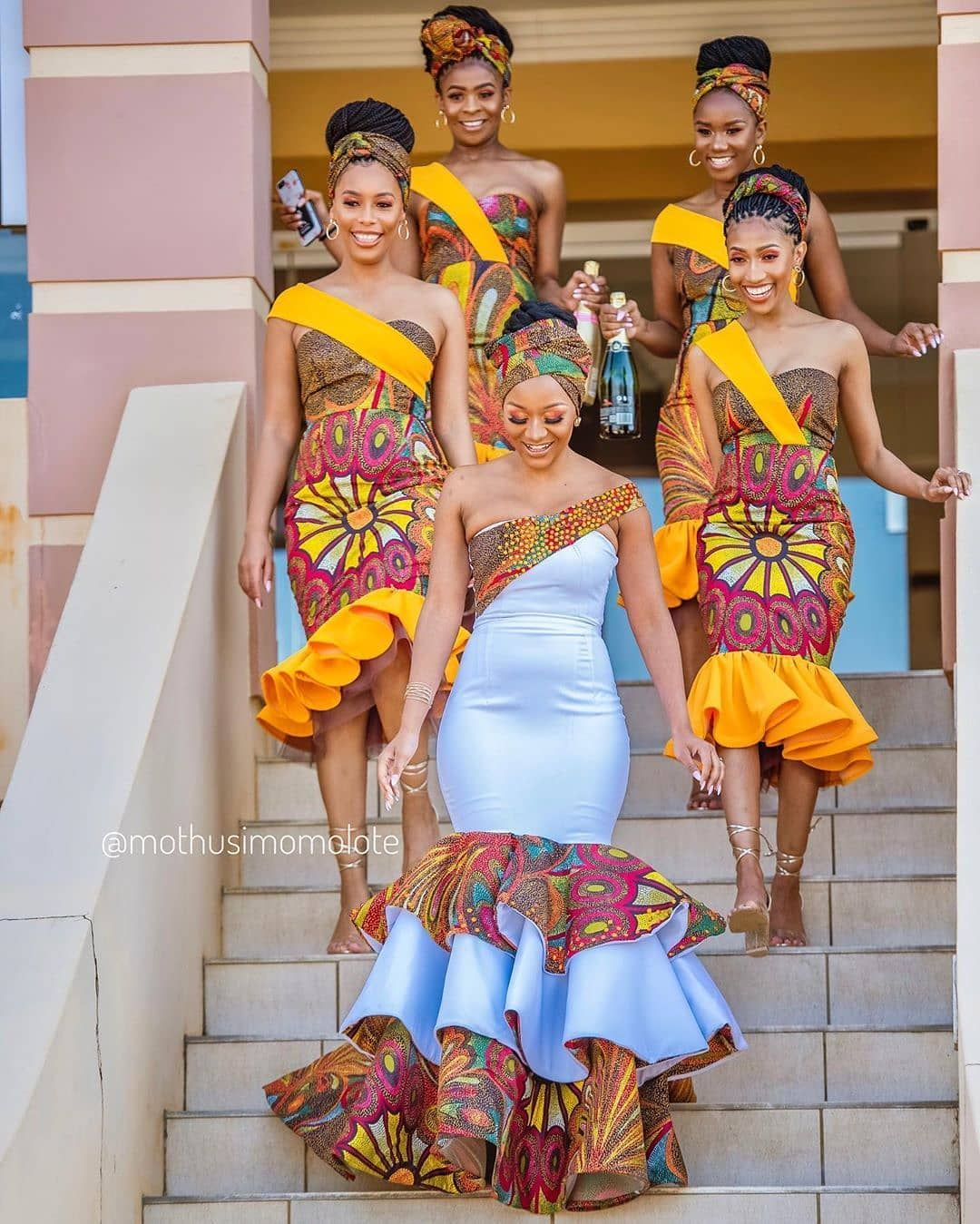 Fabulous African Traditional Bridesmaid Wedding Train African Bridesmaid Dresses African Bridesmaids African Traditional Wedding Dress [ 1349 x 1080 Pixel ]