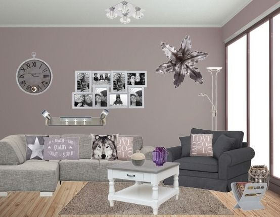sfeervolle woonkamer | Paars/Lila tinten | Pinterest