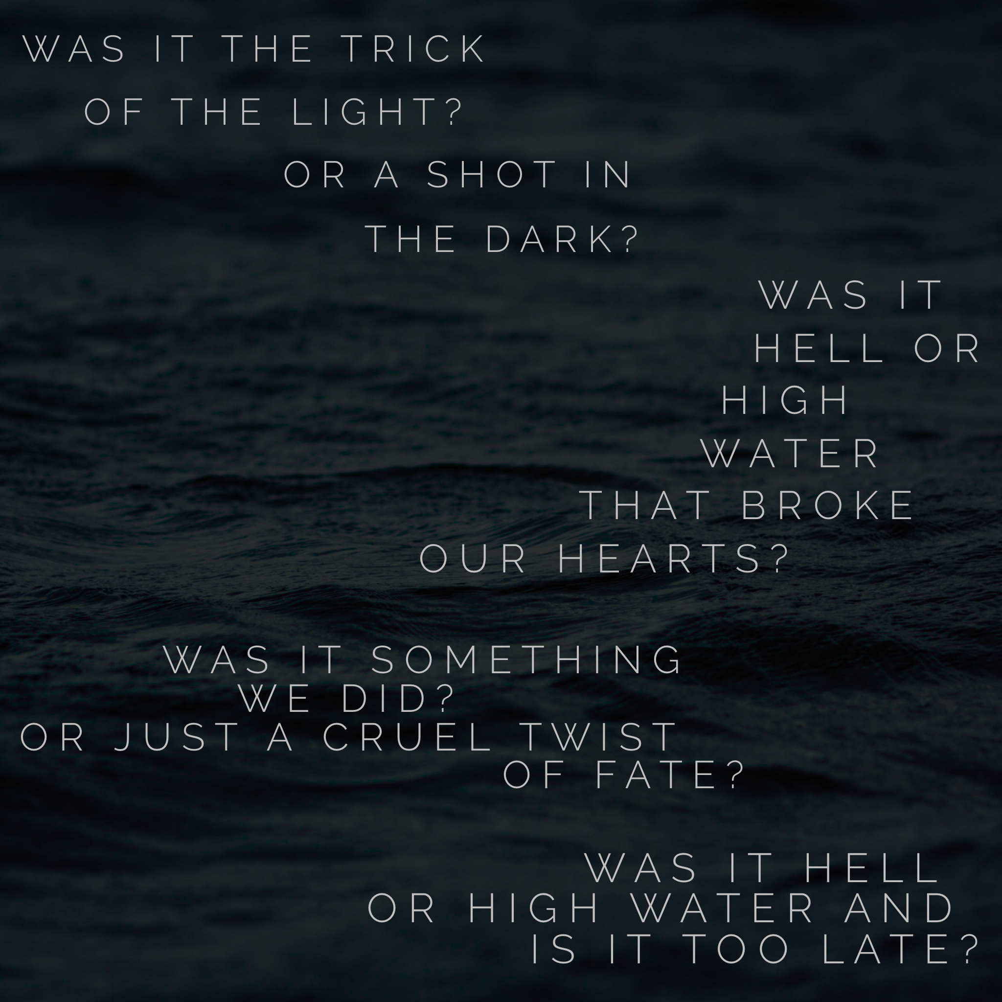 hell or high water lyrics passenger