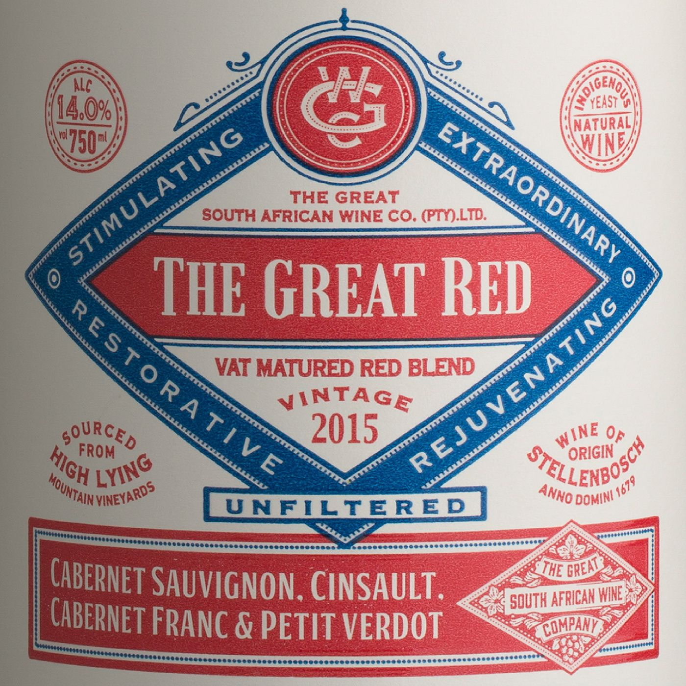 The Great South African Wine Company On Behance South African Wine Wine Label Projects Spirit Labels