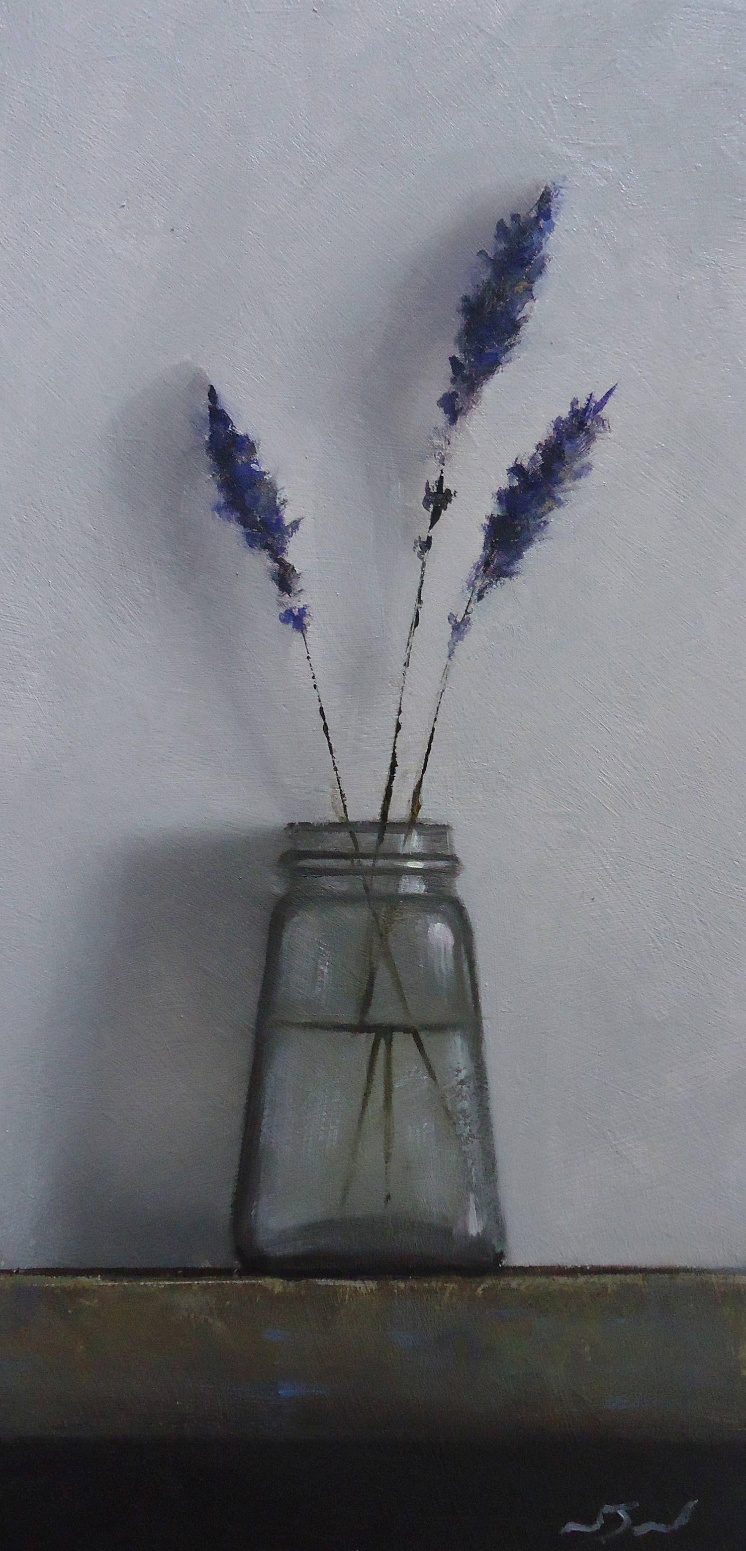 Lavender Oil On Panel Neil Nelson Still Life Art Original Oil Painting Flower Art