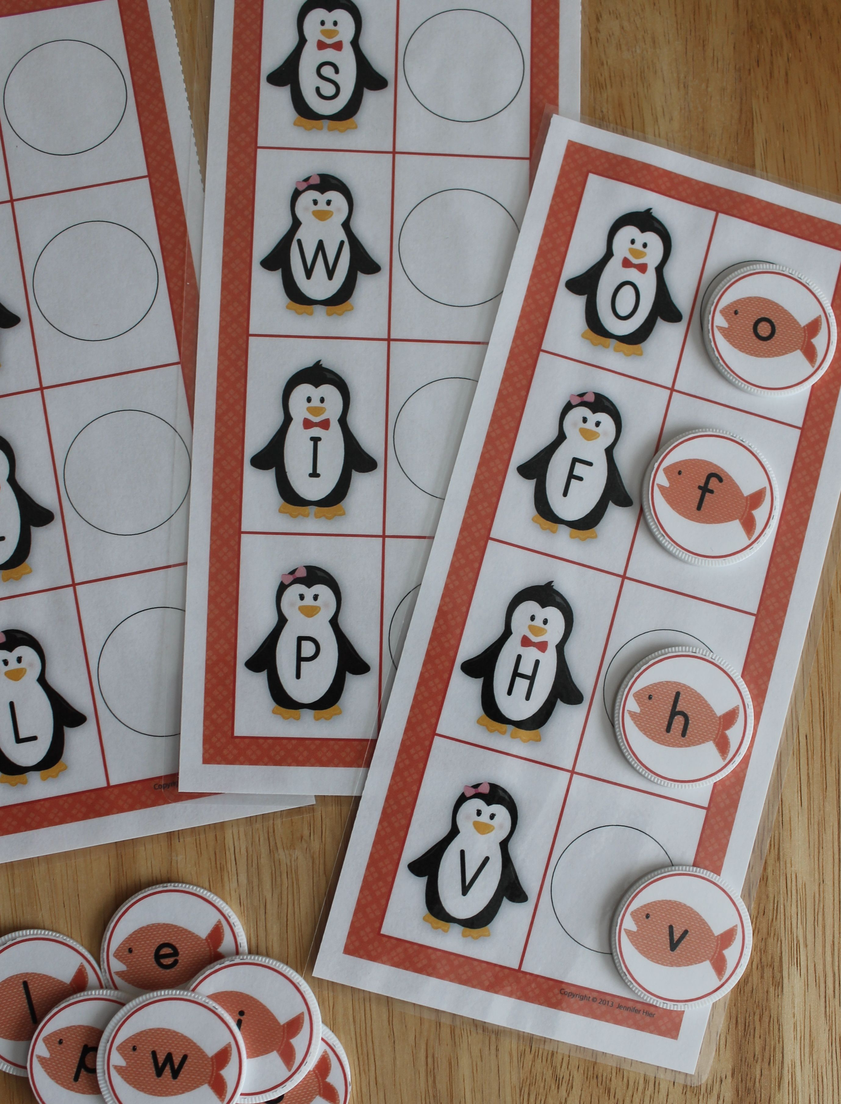 Penguin Abc Matching Activity Penguin Alphabet Activities