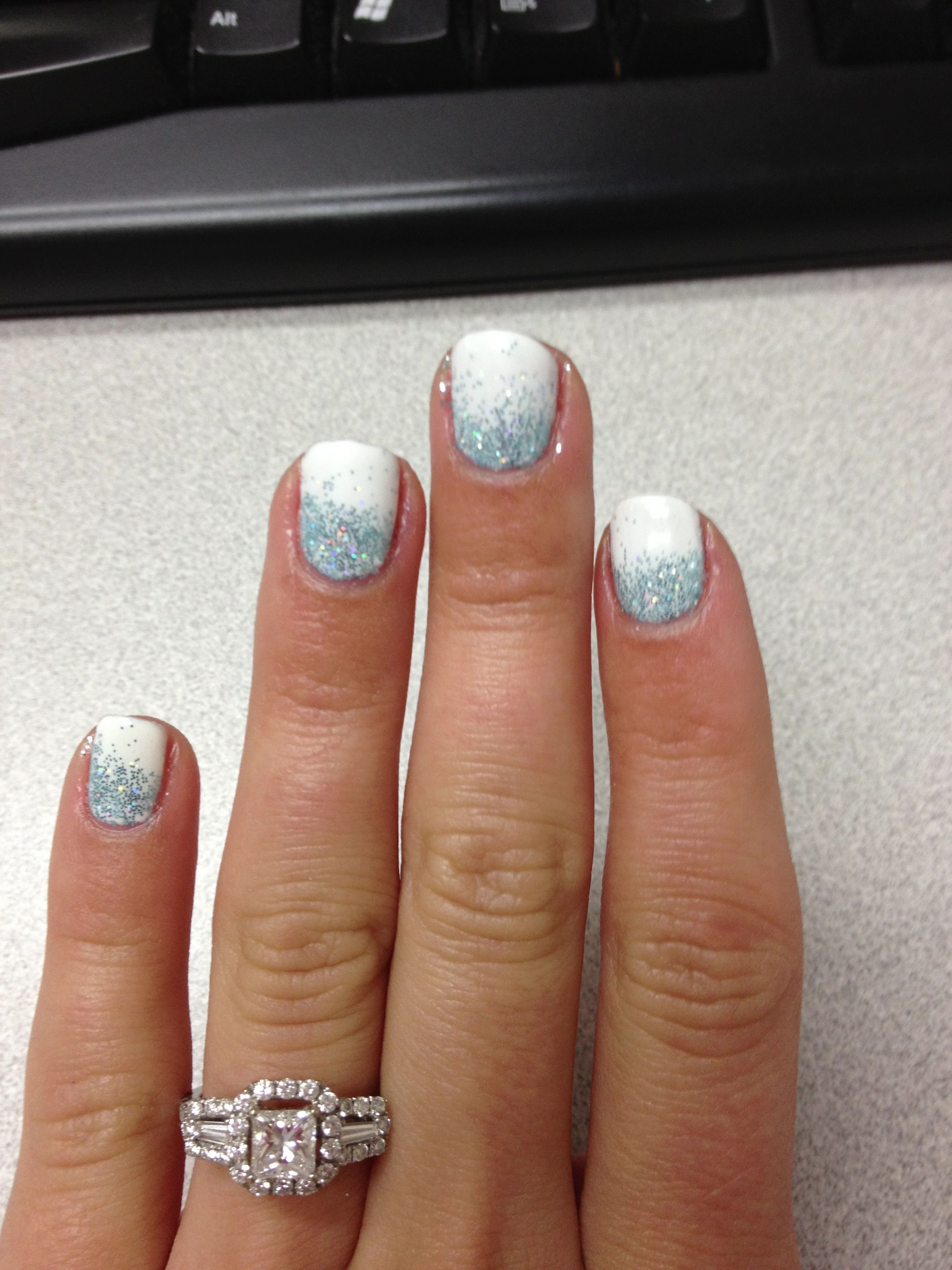 Pin By Amanda Sutton Conte On Nails Christmas Gel Nails White Shellac White Shellac Nails
