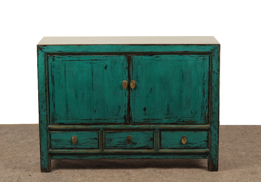 painted tv console media cabinet with drawers from terra nova furniture los angles