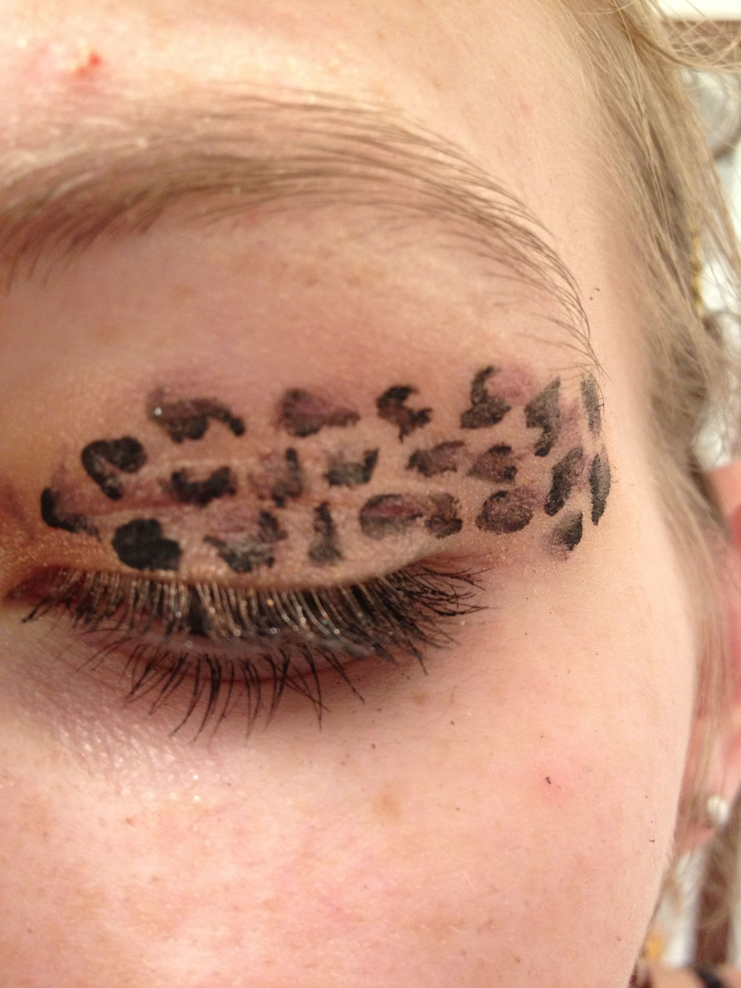 Cheetah Print Eyeshadow With Felt Tip Liquid Eyeliner And Eyeshadow
