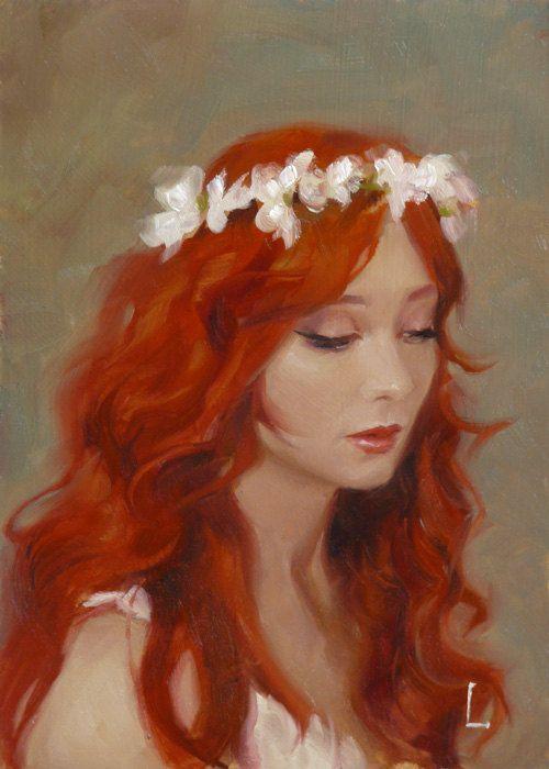 White Flowers  Original Oil Painting by Larriva on Etsy