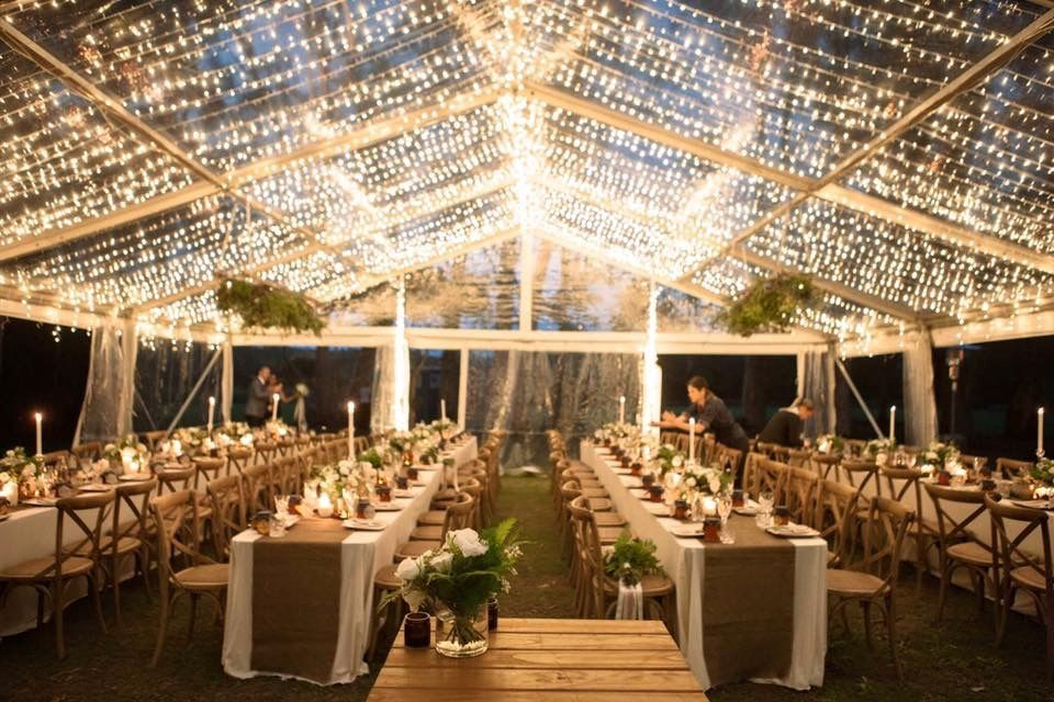 Sunshine Coast Wedding Clear Marquee Hire 2 Marquee Hire Wedding Tent Rentals Event Hire Backyard Wedding Decorations Wedding Tent Lighting Clear Marquee