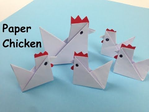How To Make A Simple Paper Chicken Easy Tutorials Diy Fold