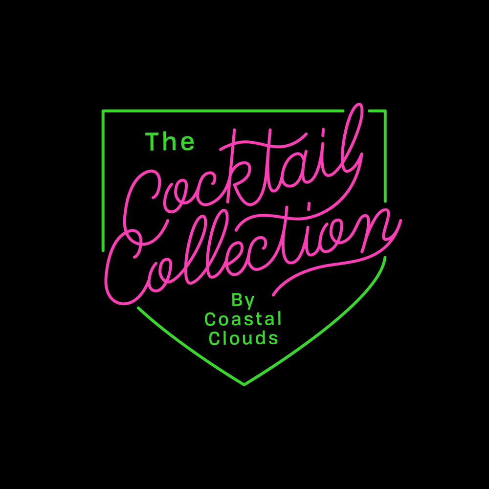 Coastal Clouds Cocktail Collection Vapor Logo Lettering