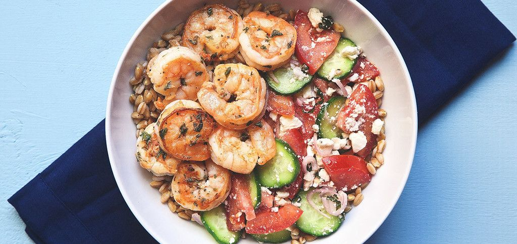 Greek Shrimp Farro Bowl | Chef'd