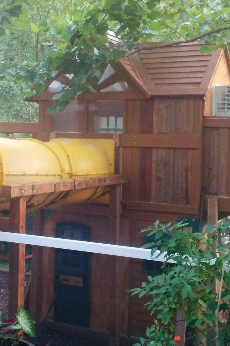 kids tree house dad builds epic fort for daughter ev projects rh pinterest ca