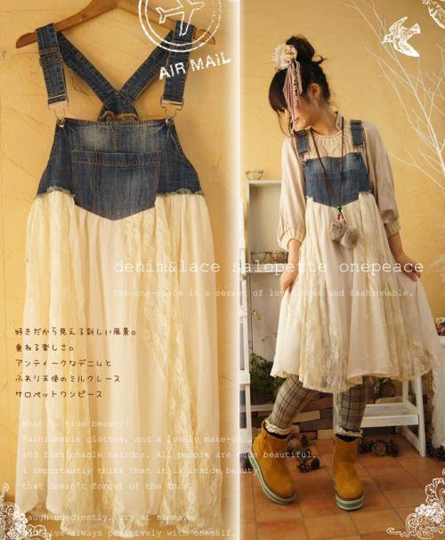 "a09fa7f41 foxwix: ""(via upscaled overalls | Style: Country Style, Mori Girl, & Natural  Kei | …) """