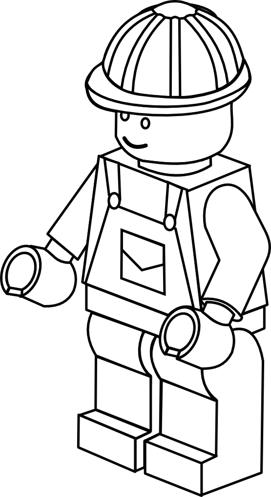 free lego coloring page