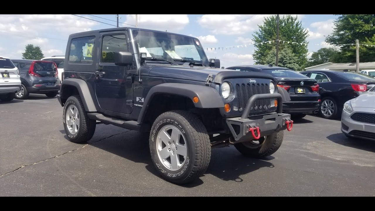 2008 Jeep Wrangler X 2Dr Hard Top 6 Spd Manual 3.8L V6 Tow