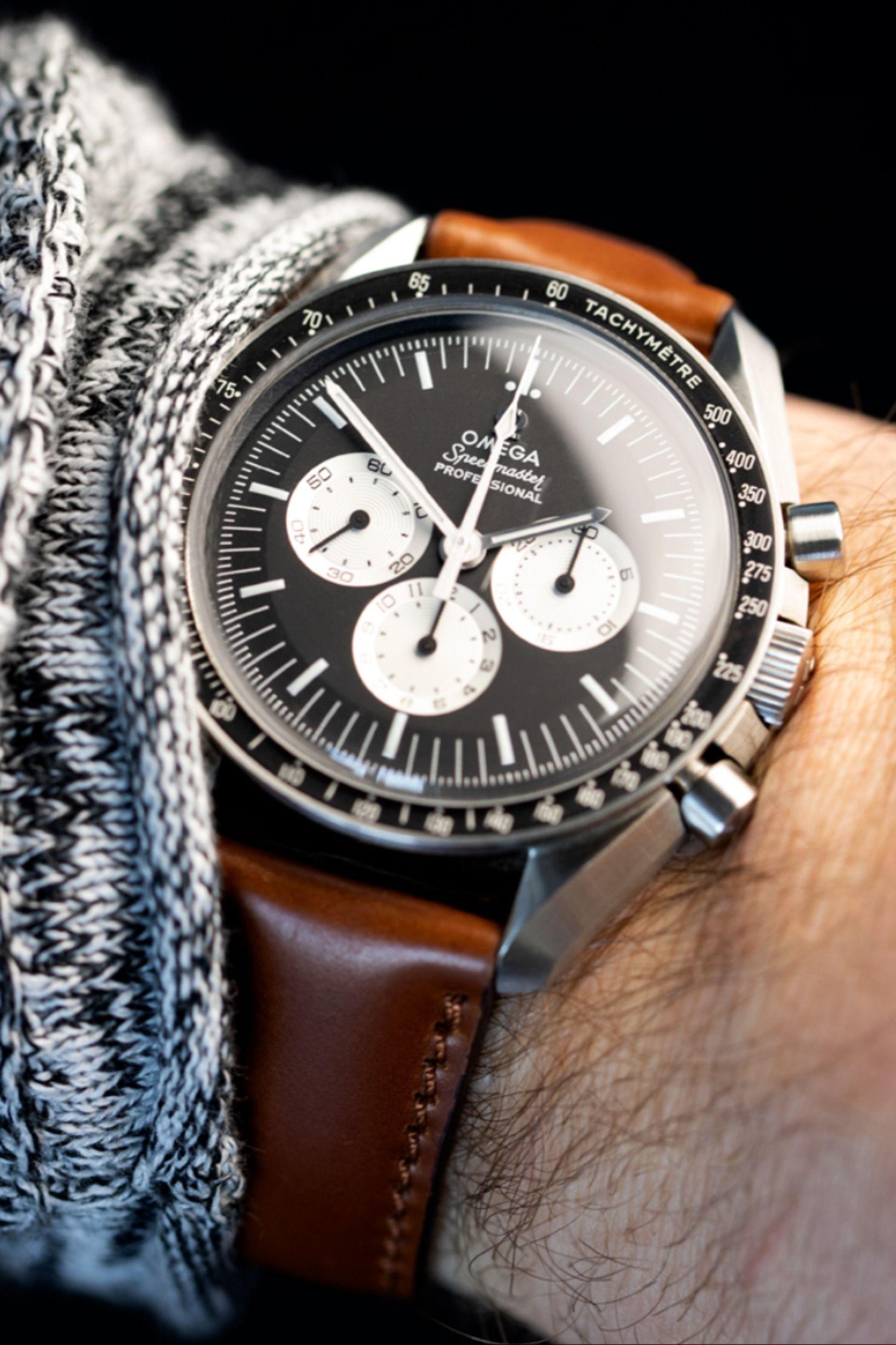 Rios1931 TOBACCO Genuine Pigskin Leather Watch Strap in