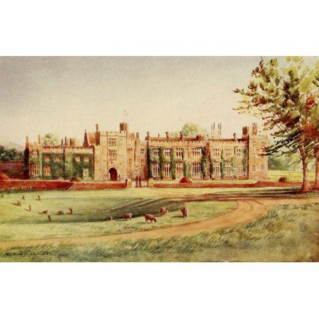 English Homes & Villages 1909 Penshurst Place Canvas Art - Charles E Corke (18 x 24)
