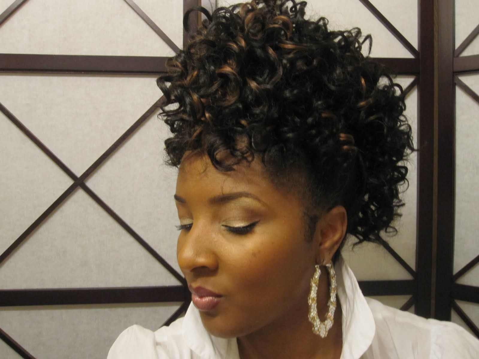 Drawstring ponytails for black women mohawk ponytail hairstyle