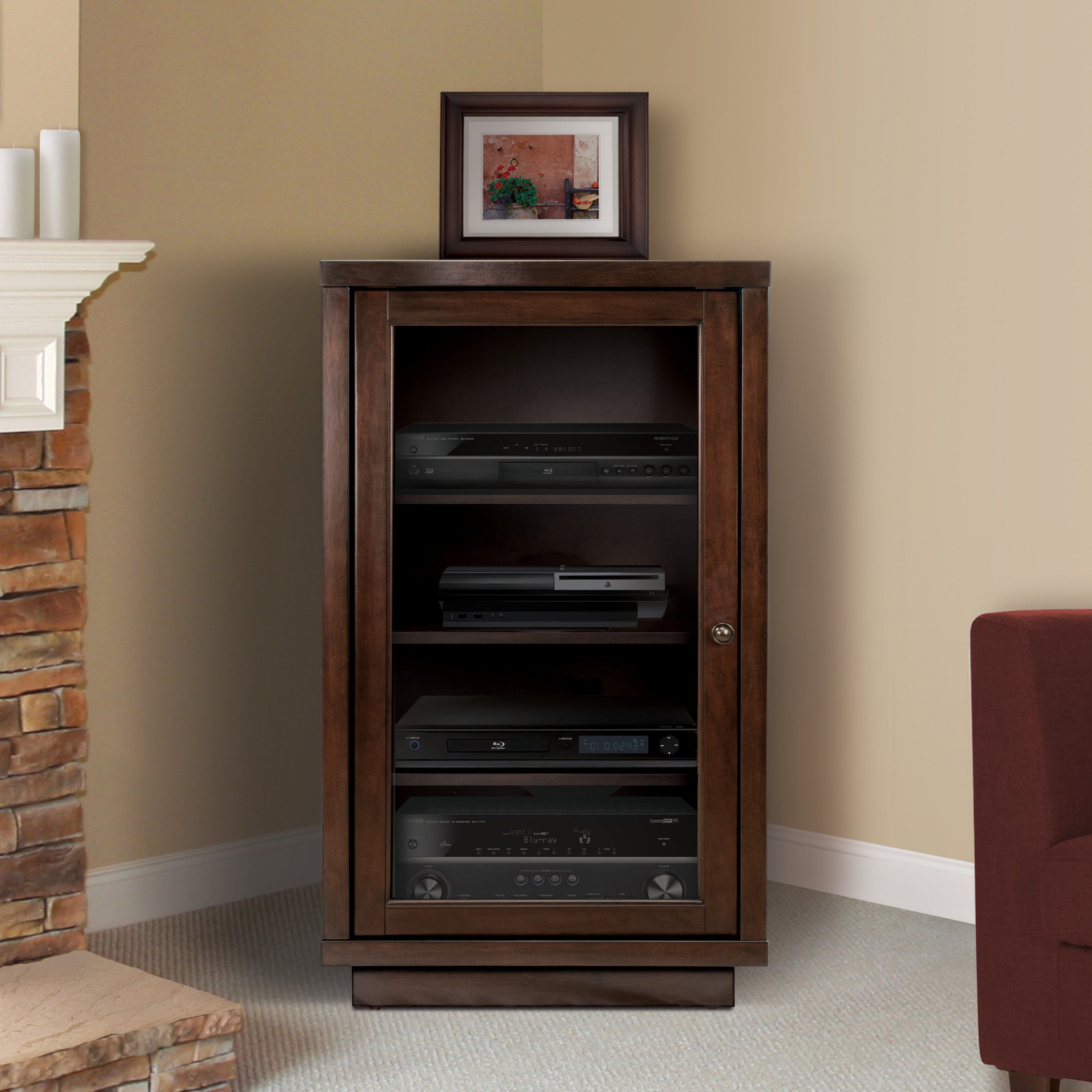 ip cabinet with shelf stand com component av audio walmart video fitueyes media glass