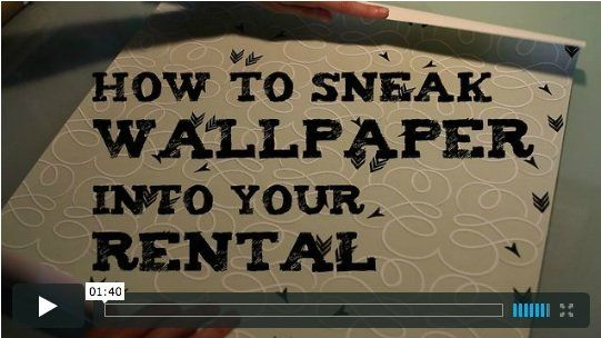 One Minute Tip: How to Sneak Wallpaper Into Your Rental — Apartment ...