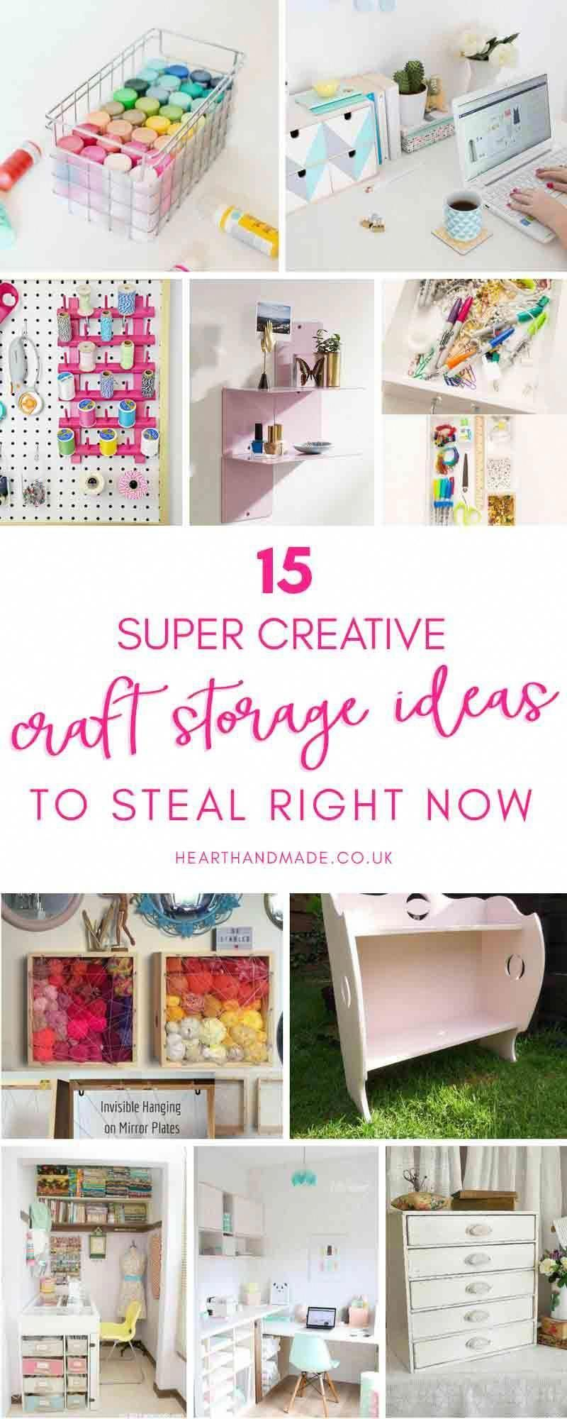 Are you trying to find perfect craft storage ideas to steal? These Craft Room Or…