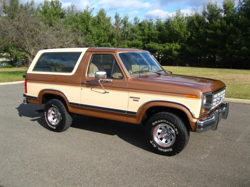 1986 Ford Bronco Xlt Two Tone Paint Job On An Xlt Trim Level