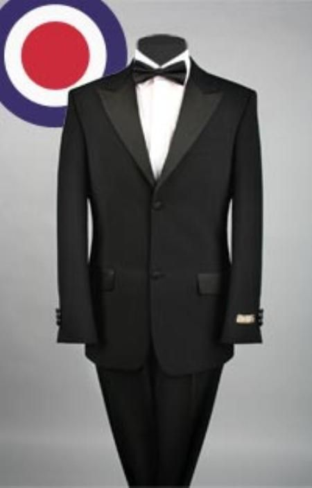 Mens 2 Button Peak Lapel Black Tuxedo. We have collection of ...