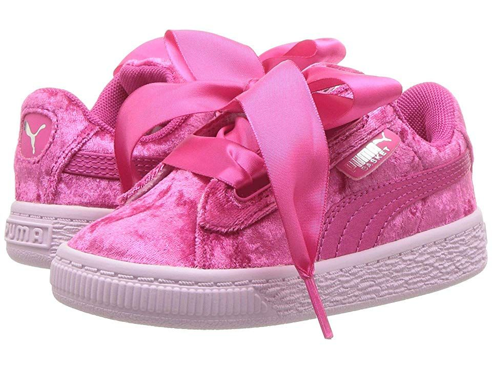 new product 38b80 fd957 Puma Kids Basket Heart Velour Inf (Toddler) Girls Shoes ...